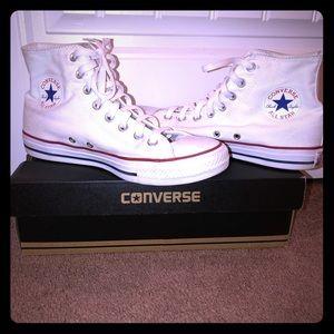 White Hi-Top Converse